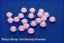 LEGO 20 x plaque ronde rose (1 x 1) - 4073-plate, round, Bright pink-Neuf/New