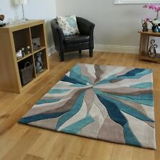 Infinite Splinter Rug 200x290 Teal Polyester - Post UK