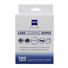 100 Zeiss Pre-Moistened Cleaning Wipes Fr Lens Screen Optical Camera Phone