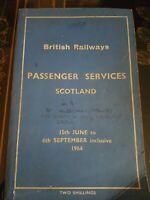British Railways Passenger Services Scotland.  JUNE - September 1964.