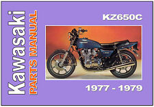 KAWASAKI Parts Manual KZ650 KZ650C Z650 Z650C 1978 1979 Spares Catalog