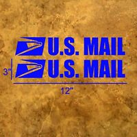 (QTY 1-2) USPS MAIL Vinyl Decal postal - multiple sizes & colors. US U.S. Mail
