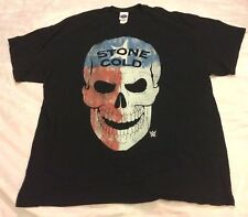 Stone Cold Steve Austin 3:16 Texas Flag Skull WWE Mens Black T-shirt Size XL EUC