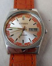 ANCIENNE CITIZEN AUTOMATIQUE 71-3279,ELEGANT MODEL MIXTE A GUICHET DATEUR(1980)
