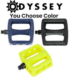 Choose Color Odyssey MX Twisted PC PRO BMX Platform Pedals 9/16 Strong Park Bike