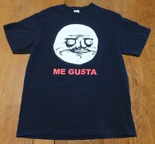 #3053-7 ME Gusta Rage Comic Face Expressing Approval Perverse Situation Tee L