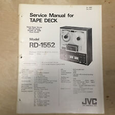 Original JVC Service Manual for the RD-1552 Reel Tape Deck Recorder