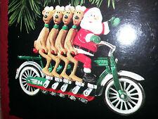 HALLMARK Keepsake 1994 CHEERY CYCLISTS Santa Bike CHRISTMAS ORNAMENT Vintage NEW