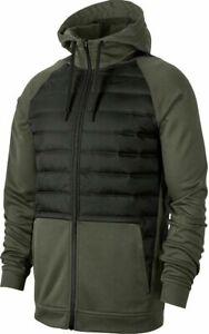 Nike Therma Winterized Zip Hoodie Jacket Green BV6298-325 Mens Size L Large