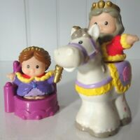 2004 Fisher Price Little People King & Queen Horse and Accessories Plastic Retro