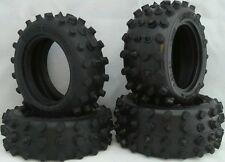 FRONT REAR 4 TIRE SET Hotshot Supershot Boomerang Tyre RC Tamiya 9805110 9805111