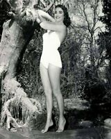 A Julie Adams With Hand On Neck Black And White 8x10 Picture Celebrity Print