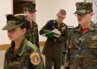 HOT WEATHER BDU WOODLAND 8 Point MARINE CORP USMC ROTC JROTC UTILITY CAP Cover