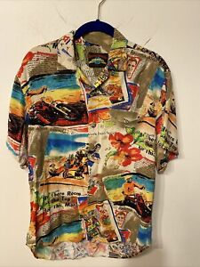 Jams World Mens Hawaiian Shirt S Surfline 30th Anniversary Limited Edition