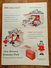 1955 Kleenex Ad by Little LULU Comic Art Christmas Santa Clause Theme