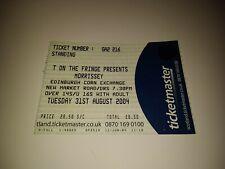 RARE 2004 MORRISSEY Concert Ticket / Edinburgh Corn Exchange