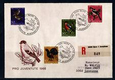 c/ Suisse enveloppe  pro juventute  1968  oiseaux