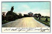 Vintage View of Driveway, Downing Park, Newburgh NY c1905 Postcard M1