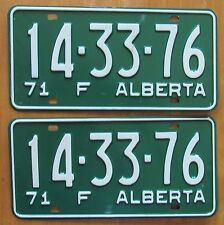 Alberta 1971 FARM License Plate PAIR # 14-33-76