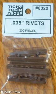 """Tichy Train Group #8020 (Rivets) .035"""" (200 Pieces) Plastic Parts"""