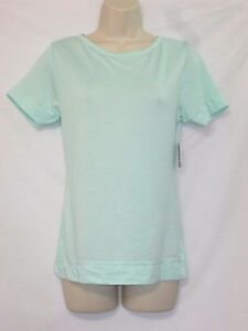 NWT Calvin Klein Tee / Sleep Shirt Mint Green w/ LOGO Size X-Small