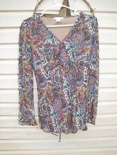 Women's Dress Barn, Long sleeve, paisley blouse.  Size SMALL.