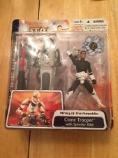 CLONE TROOPER WITH SPEEDER BIKE Star Wars Clone Wars Army of the Republic 2003