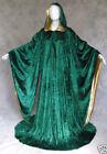 Hooded Velvet Wizard Cloak/Cape Men Halloween With Sleeves Robe Wedding Cape