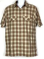 Kuhl Men's Size Medium Short Sleeve Button Front Casual Shirt Snap Button Pocket