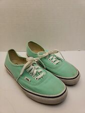 Women's Vans Authentic Lo Pro mint green Canvas Sneakers Size 7.5 men 9 woman