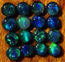 OPAL TRIPLETS FOR STUDS OR EARRINGS 16 of 4 mm CABOCHONS 3.25 carats A+ grade