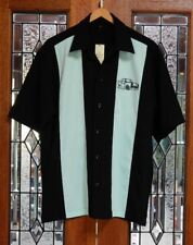 Vintage Fairlane Car 50's 60's Rockabilly Charlie Sheen Style Bowling Shirt
