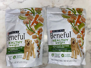Purina Beneful Healthy Weight Dog Food With Farm-Raised Chicken 2x6oz EXP 10/21