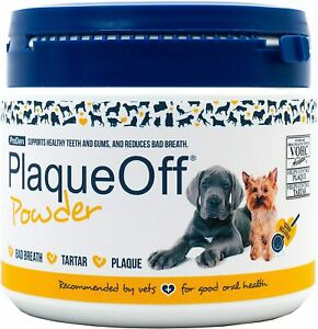 ProDen PlaqueOff Powder 420 g for Dogs and Cats, Bad Breath, Plaque, Tartar