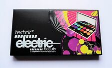 Technic Electric Beauty Bright Eye Shadow Palette Pink Orange Blue Green Purple