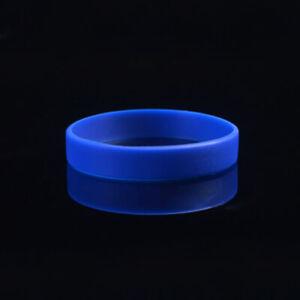 Men Women Sport Silicone Bracelet Bangle Rubber Wristband Gift Jewelry Decor