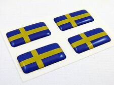 Sweden Swedish mini domed Flag decals 4 emblems Car auto bike boat. stickers
