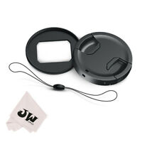 JJC 49MM Filter Adapter + Lens Cap for Panasonic Lumix DMC-ZS200 ZS220 TZ200 TX2