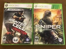 Splinter Cell Conviction And Sniper Ghost Warrior Xbox 360 Used