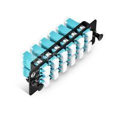 12x LC Duplex, 24 Fibers OM4 Multimode FHD Fiber Adapter Panel, Data center