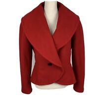 Vintage Escada by Margaretha Ley Wool Cashmere Red Coat Women's 36