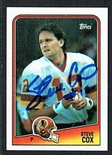 Steve Cox #15 signed autograph auto 1988 Topps Football Trading Card