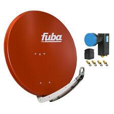 FUBA DAA 850 R +Opticum Quad LNB SAT Spiegel Schüssel ziegelrot rot Antenne 85cm