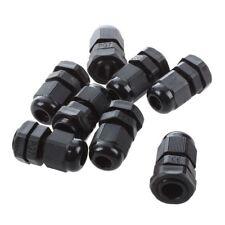 8 Stueck PG7 schwarzer Kunststoff wasserdichter Kabelverschraubung 3-6.5mm T3V1