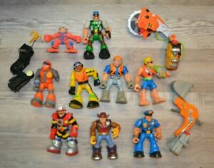 Rescue Heroes Mattel Fisher Price Action Figures Lot Of 9 1999, 2001