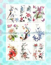 "cool temporary tattoos 6 sheets flower roses large 8.25"" half-sleeve arm tattoo"