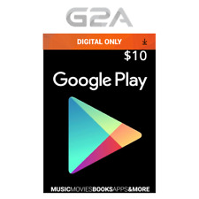 $10 USD Google PLAY Store Gift CARD - 10 Dollar Google Play Code - Android Key