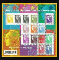 Bloc Feuillet 2009 N°F4409 Timbres France - Les Couleurs de Marianne - Cote 36 €