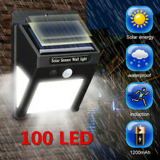 100led 3 Sides Solar Ed Garden Lights Pir Motion Sensor Outdoor Security Uk