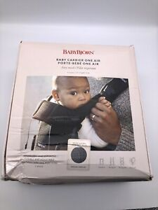Babybjorn One Air Baby Carrier Anthracite Multiple Positions 0-3 Years 8-33 lbs